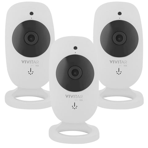 Three Vivitar IPC-113 Smart Security 1080P Wi-Fi Cameras