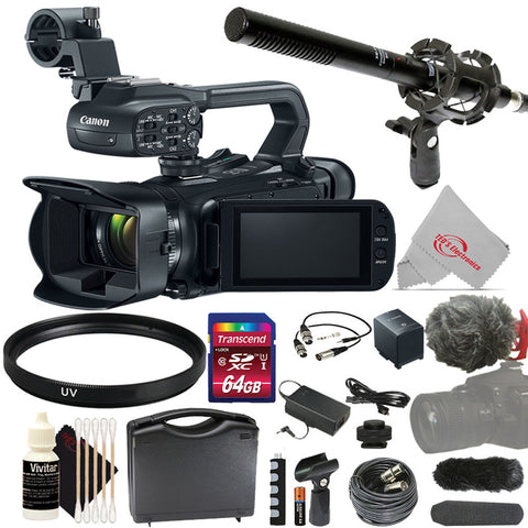 Canon XA11 Compact Full HD 20x Optical Zoom Camcorder-PAL with Top Accessory Kit