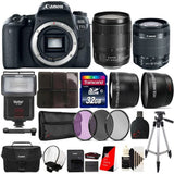 Canon EOS 77D 24.2MP DSLR Camera with 18-55mm Lens , 18-135mm USM Lens and Accessory Bundle