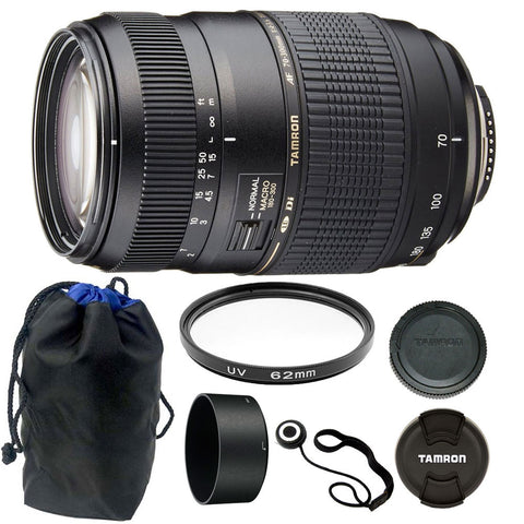 Tamron Zoom Telephoto AF 70-300mm f/4-5.6 Di LD Macro Autofocus Lens with Accessories for Canon