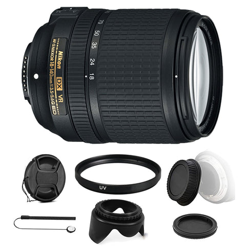 Nikon AF-S DX NIKKOR 18-140mm f/3.5-5.6G ED VR Lens with Accessory Kit For Nikon D3200 , D3300 , D5300 , D5500 , D7100 and D7200