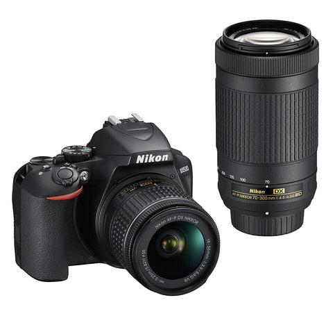Nikon D3500 24.2MP DX-Format CMOS Sensor W/ AF-P DX NIKKOR 18-55mm and AF-P DX 70-300mm Lenses