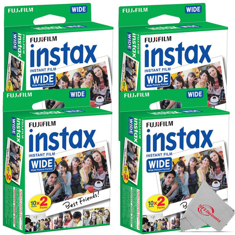 FUJIFILM INSTAX Wide Instant Film (20 Exposures) 4 Pack