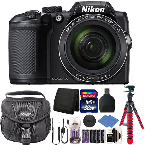 Nikon Coolpix B500 16MP 40x Optical Zoom Digital Camera with Accessory Bundle