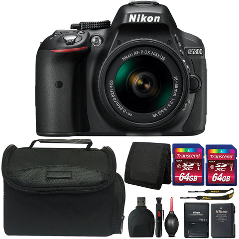 Nikon D5300 24.2MP Digital SLR Camera with 18-55mm Lens and Ultimate Accessory Bundle
