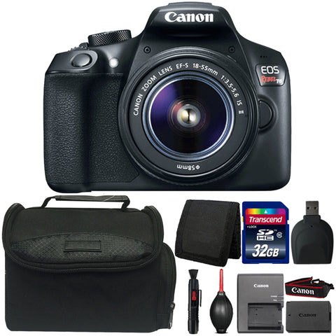 Canon EOS Rebel T6 18MP Digital SLR Camera with 18-55mm IS II Lens and Accessory Kit