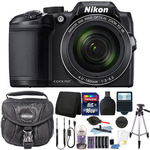 Nikon Coolpix B500 16MP 40X Zoom Full HD Digital Camera Premium Accessory Kit