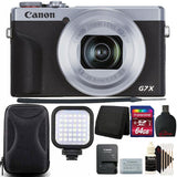 Canon PowerShot G7 X Mark III Full HD 120p Video Digital Camera - Silver + 64GB Top Accessory Kit