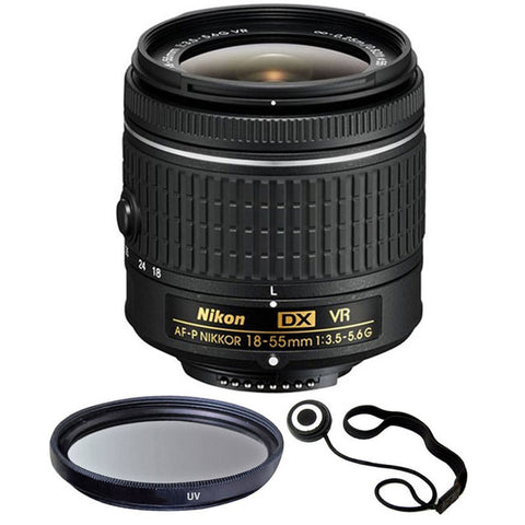 Nikon 18-55mm f/3.5 - 5.6G VR AF-P DX Nikkor Lens for Nikon D5500, D5300, D3300