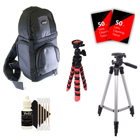 Tall Tripod, Flexible Tripod, Backpack and More Accessories for Canon EOS Rebel 70D, 77D, 80D,1300D and All Digital Cameras