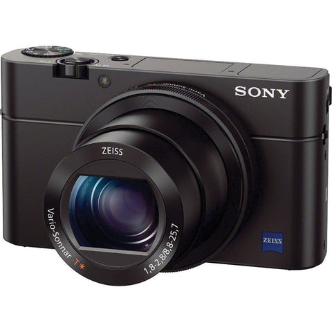 Sony RX100 III 20.1 MP Premium Compact Digital Camera 1-inch Sensor and 24-70mm F1.8-2.8 Carl Zeiss Lens
