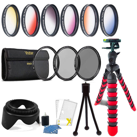 58mm Color Filters with Accessory Bundle For Canon DSLR Cameras
