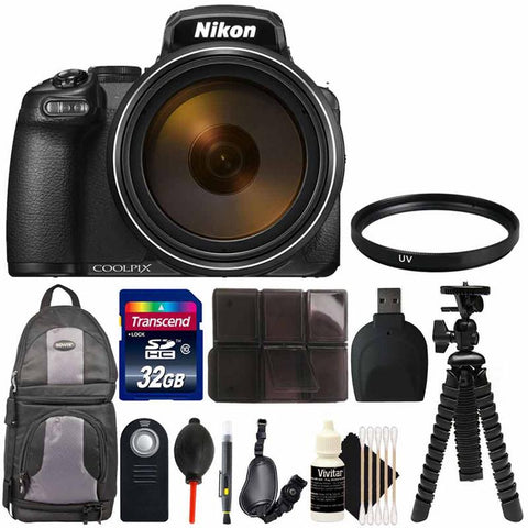 Nikon Coolpix P1000 Digital Camera with 128X Zoom + Complete Bundle for Travelers