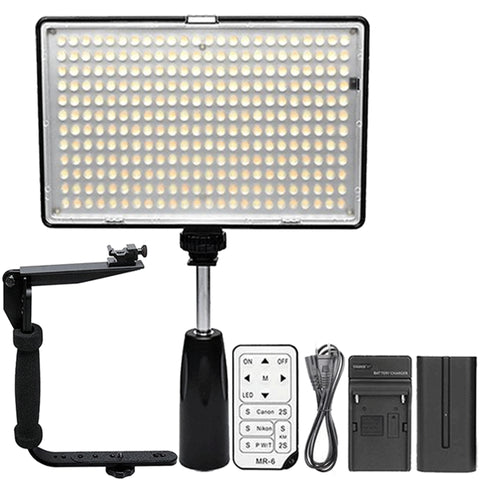 288 LED Video Light with Accessories