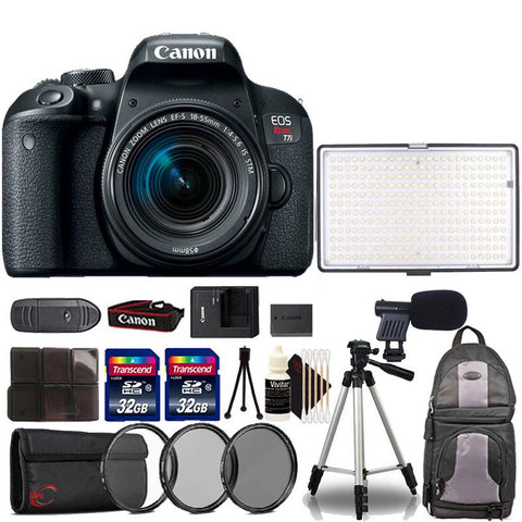 Canon EOS Rebel T7i 24.2MP DSLR Camera with 18-55mm Lens , 288 LED Light and Accessory Kit
