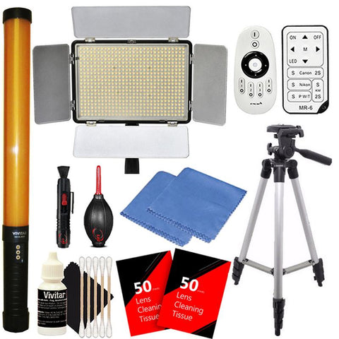 Vivitar 600 and 298 LED Light with Accessory Kit
