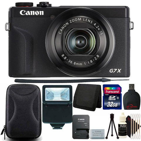 Canon PowerShot G7 X Mark III Full HD 120p Video Digital Camera - Black + 32GB Top Accessory Kit