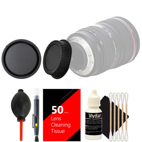 Vivitar Rear & Front Caps + Accessory Kit for EOS Rebel T5 T6 & All Canon DSLR