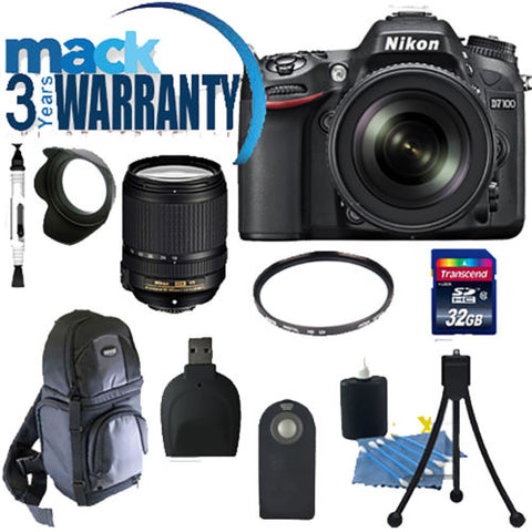 Nikon D7100 DSLR Camera with 18-105mm AF-S DX VR ED Lens and accessories