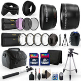 52mm Close Up Macro Filters , Telephoto Lens ,Wide Angle Lens and Accessory Kit for Nikon D3300, D3400, D5300, D5500 and D5600