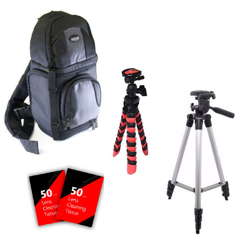 Tall Tripod, Flexible Tripod, Backpack and More for Canon EOS Rebel T5, T5i and All Canon Digital Cameras