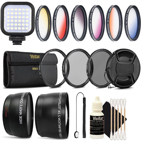 Compact LED Light with Accessory Kit