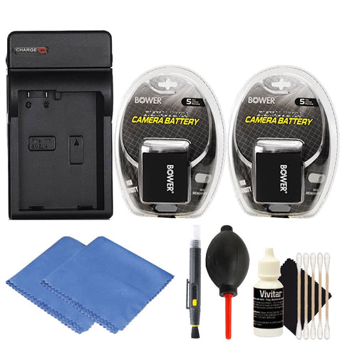 2 LP-E10 Replacement Battery with Accessory Kit for Canon EOS Rebel T3, T5 and T6