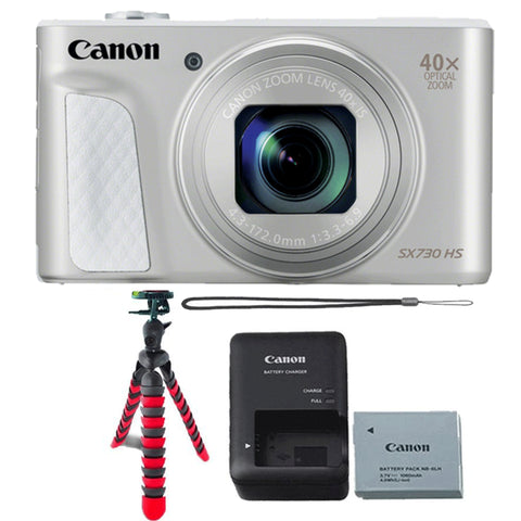 Canon PowerShot SX730 HS Digital Camera Silver with Accessory Bundle