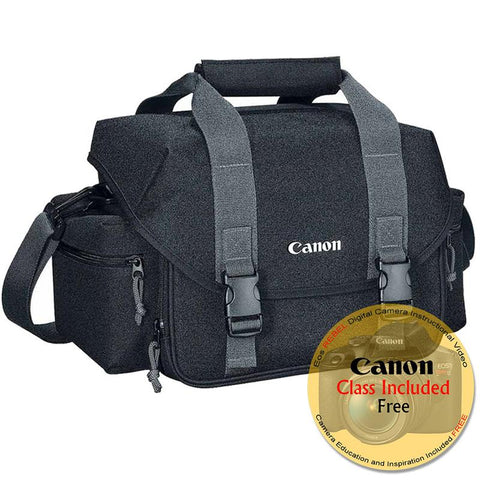 Canon 300DG Digital SLR Gadget Bag for All EOS and Rebel Cameras with Canon Free Instructional Video Class