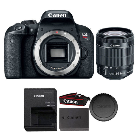 Canon EOS Rebel T7i 24.2MP DSLR Camera with 18-55mm IS STM Lens