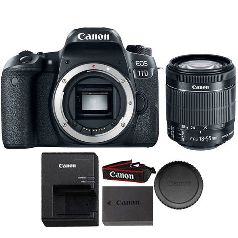 Canon EOS 77D 24.2MP DSLR Camera with 18-55mm IS STM Lens