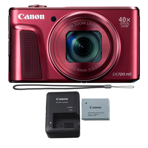 Canon PowerShot SX720 HS 20.3MP Digital Camera Red