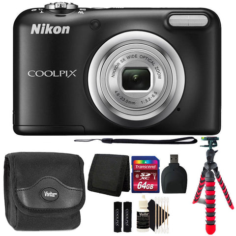 Nikon Coolpix A10 16.1MP Digital Camera Black with Accessories