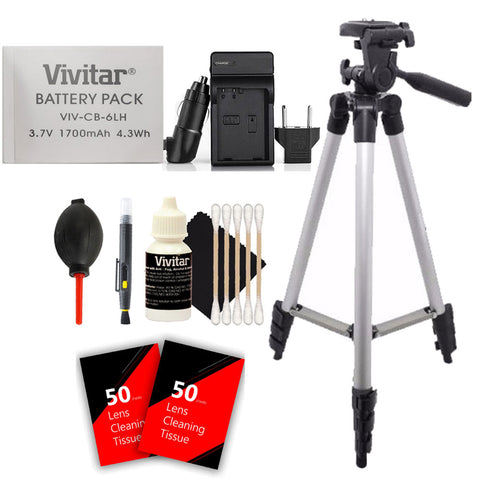Vivitar NB-6L / NB-6LH Battery with Charger and Accessory Bundle for Canon Powershot SX710, SX610 and SX530