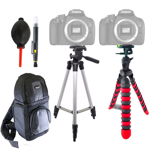 DSLR Camera Backpack with Tripods and Accessory Bundle for Canon Cameras