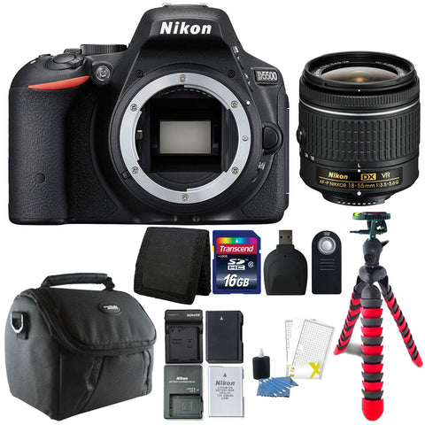 Nikon D5500 Camera with 18-55mm Lens and Accessory Kit