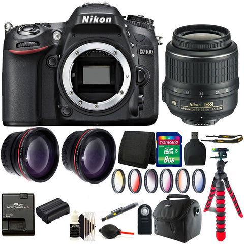 Nikon D7100 24.1 MP Camera with 18-55mm Lens and Ultimate Accessory Kit