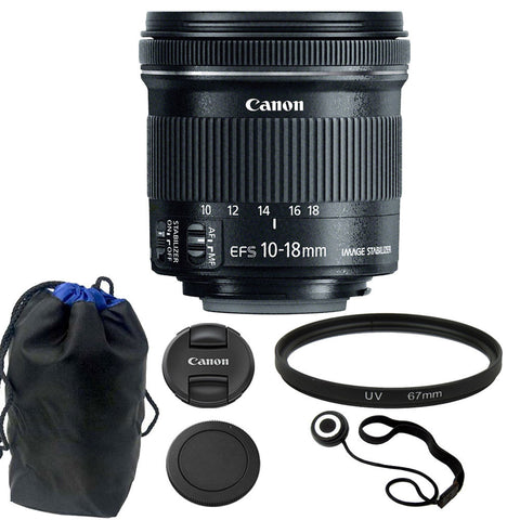 Canon EF-S 10-18mm f/4.5-5.6 IS STM Lens Kit for Digital SLR Camera