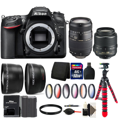 Nikon D7200 24.2MP DSLR Camera with 18-55mm Lens, 70-300mm Lens and Accessories