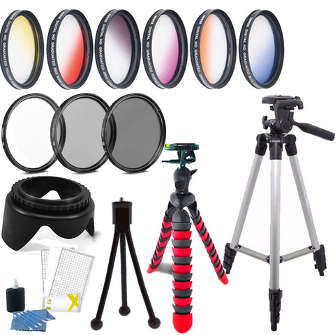 58mm Color Filters with Accessory Bundle For Canon T5 , T5i , T6 ,T6i and T7i