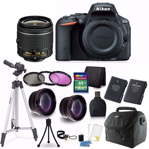 Nikon D5500 24.2MP DSLR Camera with 18-55mm lens and Accessories