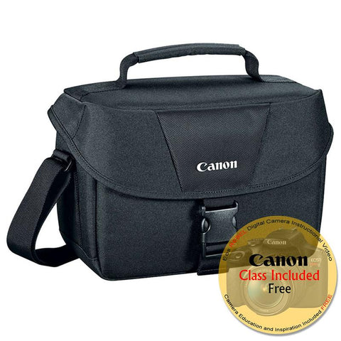 Canon 100ES Digital SLR Gadget Bag for All EOS and Rebel Cameras with Canon Free Instructional Video Class