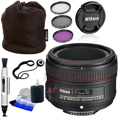Nikon 50mm f/1.8G AF-S lens for Nikon Digital SLR Cameras + Pouch, and More