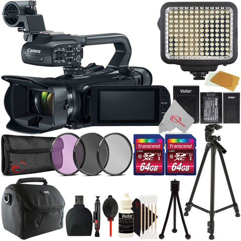 Canon XA11 Compact Full HD 20x Optical Zoom Camcorder-PAL with Filter Kit and Top Accessory Kit