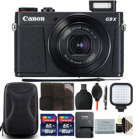 Canon PowerShot G9X Mark II Digital Camera 3x Optical Zoom with Accessories