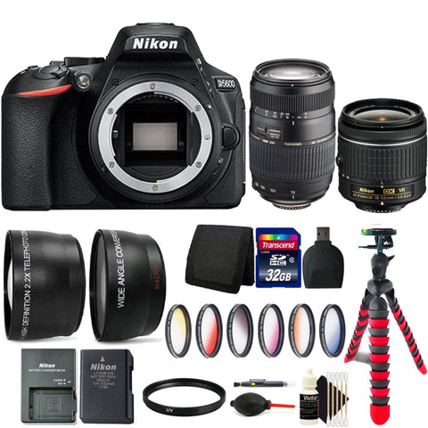 Nikon D5600 DSLR Camera with 18-55mm Lens, 70-300mm Lens and Accessory Bundle
