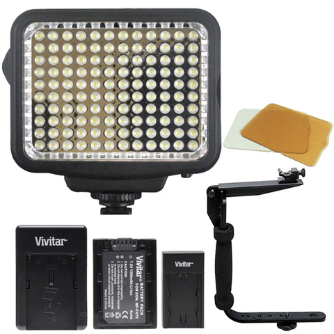 120 LED Light with Accessory Kit for canon and Nikon DSLR Cameras and Camcorders