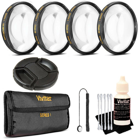 Vivitar 67mm Professional Macro Close Up Kit + Top Kit Kit for Canon 18-135, Nikon 18-140, and Nikon 18-105 Lenses