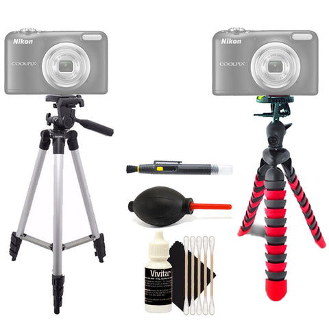 Tall Tripod and Flexible Tripod with Accessories For Sony Cameras