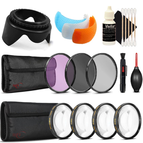 58mm Filter Kit with Accessory Kit for Canon EOS 77D , 80D and 760D